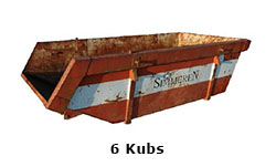 6 Kubs container
