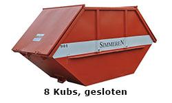 8 Kubs gesloten container