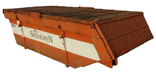 6 Kubs gesloten container